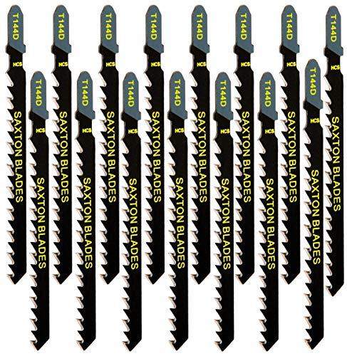 15 hojas de sierra Saxton de madera T144D para Bosch, Dewalt, Hitachi, Makita, Festool, Milwaukee, etc.