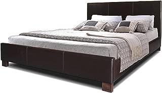 Baxton Studio Pless Modern Platform Bed, Queen, Dark Brown