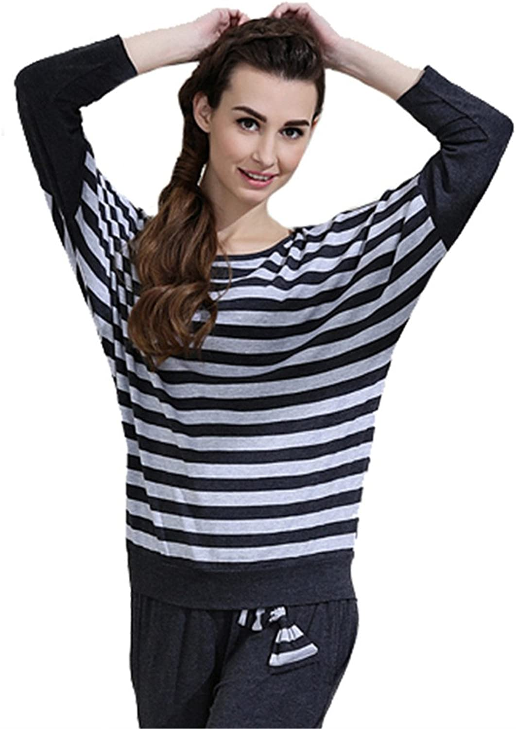 Good Quality Women Comfortable Long Sleeve Cotton Pajamas Set