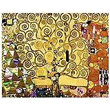 Legendarte - Cuadro Lienzo, Impresión Digital - El Árbol De La Vida - Gustav Klimt - Decoración Pared cm. 40x50