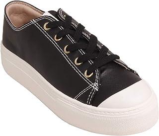 Tênis Casual Flatform Bebecê Bandana Black/White
