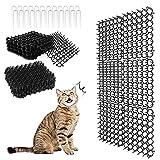 Tappetino per gatti Scat con punte, tappetino repellente per gatti, tappo per scavi a strisce piatte, tappetini deterrenti per animali domestici per giardino, recinzione, 7,9 × 6,1 pollici (24 Pezzi)