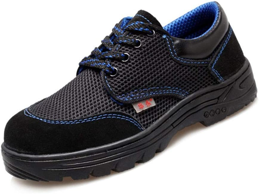 Safety Shoes Mens Women Steel Toe Cap Trainers Lightweight S3 Work Sneakers (Color : Blue, Size : 7 US)