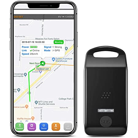 SinoTrack Personal GPS Tracker for Kids, Mini Portable Real Time GPS Tracking Device with SOS Button Anti Lost Alarm Waterproof Locator Monitoring Tracker for Seniors, Kids, Child, Student, Cars