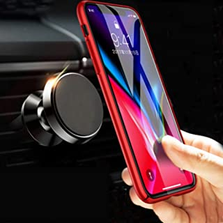 Magnetic Car Mount Air Vent, MANORDS Universal Cell Phone Holder 360°Rotation GPS Mount Compatible iPhone Xs Max Xs X 8 Plus 7 6s SE Samsung Galaxy S9 S8 Edge S7 S6 Note 9 and More (Black)