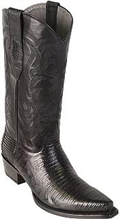 Original Black Lizard Teju Skin Snip-Toe Boot