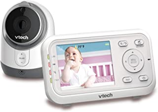VTech VM3253 Expandable Digital Video Baby Monitor with Full-Color and Automatic Night Vision, White
