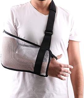 مش بازو شانه اسلینگ دوش بزرگ دوش اسلینگ حمام استفاده می شود بعد از روتاتور کاف شانه بازو بازو پشتیبانی برای مردان و زنان ، سفید