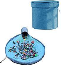 Outdoor Toy Quick Storage Bag Collapsible Canvas Basket/Bin - Toy Organizer Basket and Play Mat for Kids - Toy Storage and...