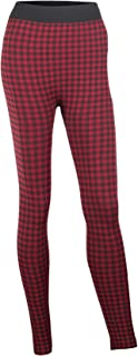 Gift Craft Fleece Lined Red and Black Plaid Fabric Novelty Leggings Set of 2