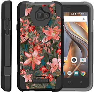 TurtleArmor | Compatible with Coolpad Case | 3622A Case [Dynamic Shell] Hard Hybrid Absorber Resistant Silicone Kickstand Impact Protection Unique - Captivating Pink Floral