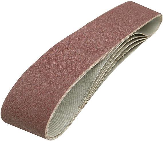Qty 5 40grit STARCKE di alta qualit/à per adattarsi a qualsiasi 13 x 457 mm per levigatrice a nastro 13 x 457 mm-Nastri abrasivi cubica