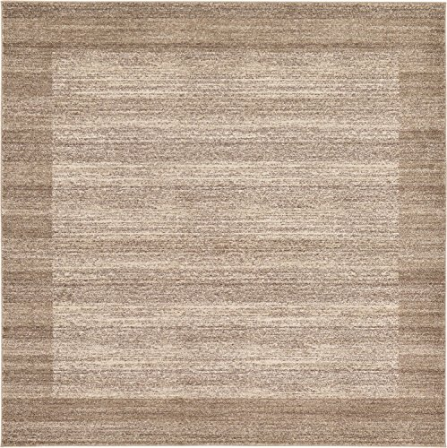 Unique Loom Del Mar Collection Contemporary Transitional Beige Square Rug (8' 0 x 8' 0)