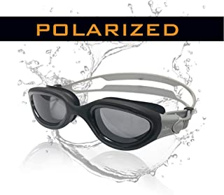 Cabana Sports Pearl Swimming Goggles. Polarized Swim Goggles with Smoke Lens, UV Protection, Watertight Seal, Anti-Fog, Adjustable Strap, Comfortable fit for Unisex, Adult,Men,Women, and Teenagers