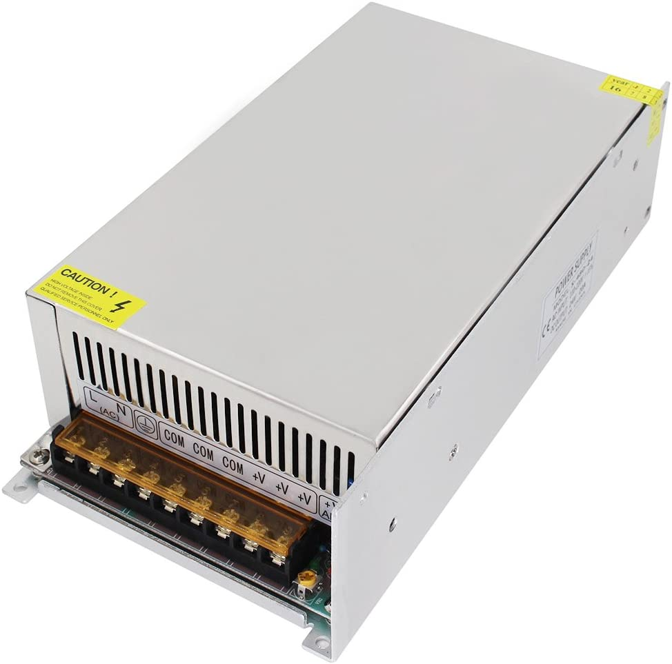 Aiposen 110V/220V AC to DC 24V 20A 480W Switch Power Supply Driver,Power Transformer for CCTV Camera/ Security System/ LED Strip Light/Radio/Computer Project(24V 20A)