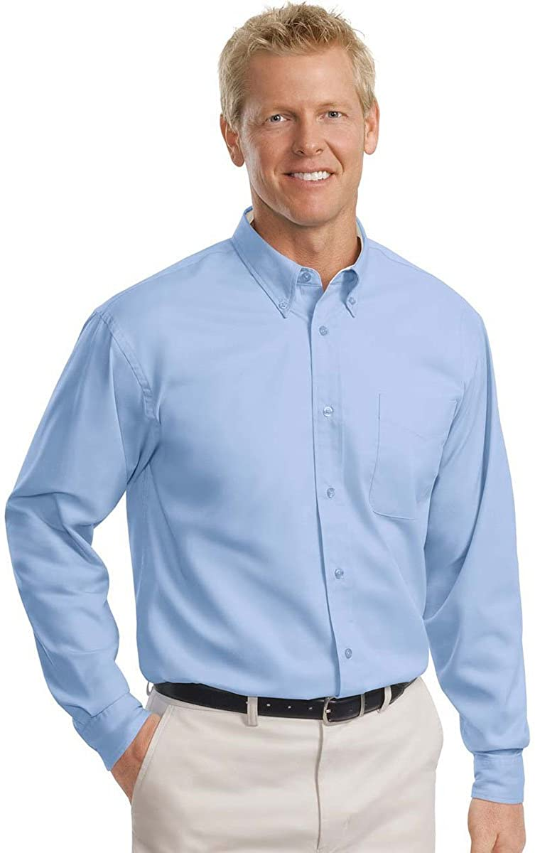 Over item handling Max 81% OFF ☆ Port Authority Men's Tall Long Care Shirt Easy Sleeve