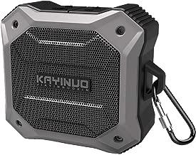 Waterproof Bluetooth Speaker Shower Speaker IPX 7 Bathroom Speaker BT4.2 True Wireless Speakers Portable Shockproof Boombox Speaker 800mAh Powerful Audio Driver Enhanced Bass 10m Wireless (Grey/Black)