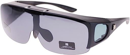 Barricade Large Mens Polarized Flip Up Fitover Sunglasses