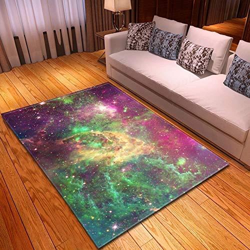 MATGHN Galaxy Space Cloud Moderne Gegend Teppich Für Schlafzimmer Esszimmer Wohnzimmer Bodenmatte, Einzigartiger Anti-Skid-innendekor Weiche Teppiche,F,160x120cm