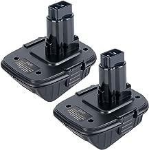 Elefly 2 Pack 20V DCA1820 Battery Adapter for Dewalt 18 Volt Tools, Convert Dewalt 20V Lithium Battery DCB200 DCB205 for Dewalt 18V NiCad & NiMh DC9096 DW9096 DC9098 DC9099 DW9099 Battery Tools