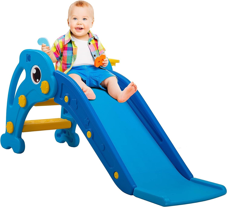 Slide for Kids Toddler Climber Slide with Long Slipping Slope Ba