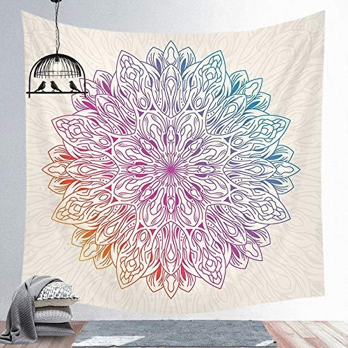 Mandala tapiz indio colgante de pared decoración de playa bohemia hogar dormitorio arte tela de fondo a8 73x95 cm