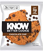 KNOW Foods - Know Better Cookie, Chocolate Chip, Keto Snack, Low Carb Snack, Protein Cookie, Gluten Free, 2.01oz Cookie, 8Count, Packaging May Vary