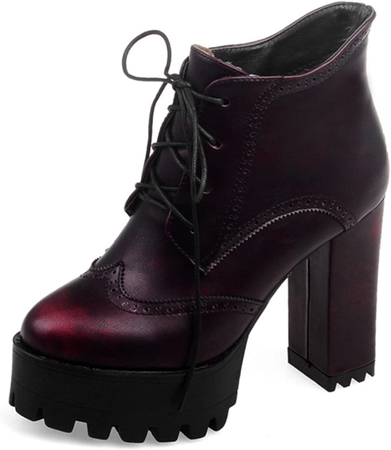 DoraTasia Lace up Platform Women's Ankle Boots