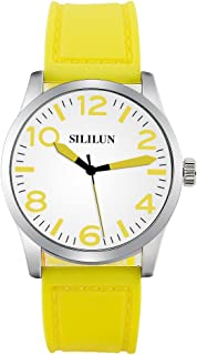 SILILUN Silicone Watch Women Watch with Cute Big Numerals Ladies Wrist Watch