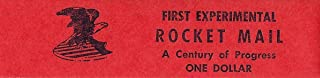 First Experimental Rocket Mail A Century of Progress Exposition Stamp 1933 CV $249