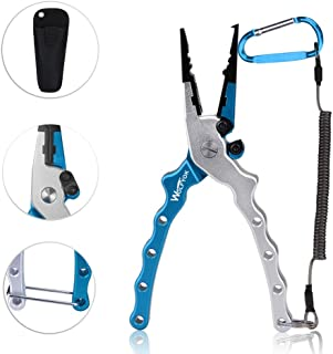 wolfyok Aluminum Fishing Pliers, Stainless Steel Hook...