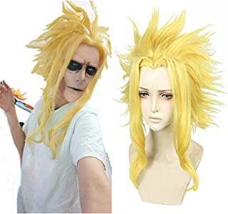 Ani·Lnc Anime Blonde Cosplay Wigs Clip on Ponytail Heat Resistant Party Wigs with free cap