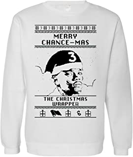 New Chance 3 Ugly Christmas Sweater The Rapper Crew Neck TShirt (XL, White)