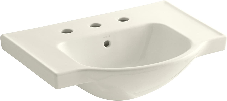 Kohler 5248-8-96 Veer Widespread Sink Basin, 24-Inch, Biscuit