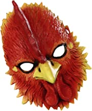 TOYANDONA Chicken Mask 3D Animal Mask Novelty Rooster Cosplay Costume Chicken Head Mask Thanksgiving Party Fancy Dress Car...