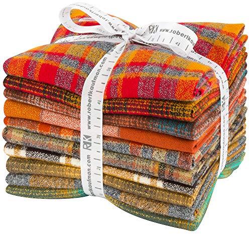 Mammoth Flannel Yellow 10 Fat Quarters Robert Kaufman Fabrics FQ-1453-10