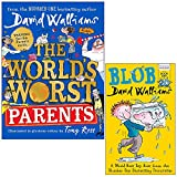 The World's Worst Parents & Blob By David Walliams 2 Books Collection Set