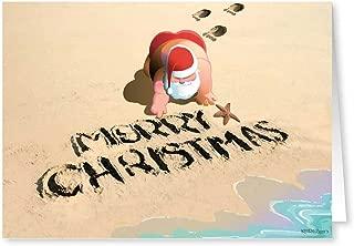 Merry Christmas Beach & Sand - Beach Christmas Cards - 18 Cards & Envelopes … (Standard)