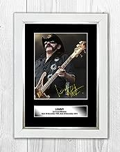 94x63,5 cm gerahmt in Rahmen rot Motörhead Poster Lemmy 1945-2015