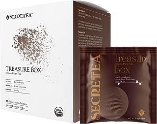 Sponsored Ad - SECRETEA, Treasure Box, Organic Cocoa Pu-erh Tea, Weight Loss, 100% Real ingredients,15 Sachet Tea Bags (15...
