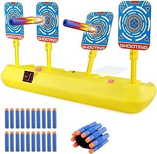 Blasland Objetivo Nerf para Pistolas Nerf con Restablecimiento Automático, Efectos Inteligentes de Sonido y Luz con 20 Dar...