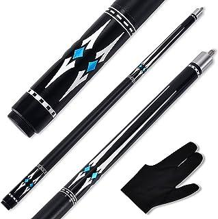 MIQ 2 57 inch 19/20/21 oz 1/2 Maple Pool Cue Stick Kit-Rockin Series.