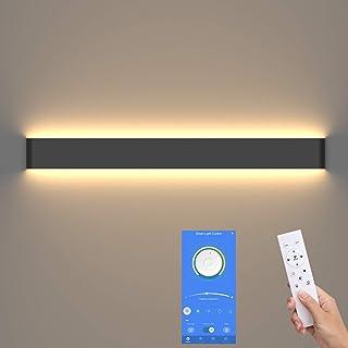 Klighten Applique Up and Down indoor, applique de salle de bain, 83cm, luminosité et couleur dimmable, 3000K-6000K, 30W, Noir
