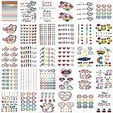 MXEHC Tatuaje 30 unids/Set Color Falso Tatuaje corazón Lindo Tatuaje Temporal Pegatinas niños niña DIY Impermeable Mangas de Tatuaje
