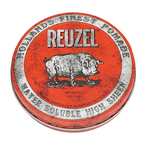 REUZEL Red Pomade Water Soluble High Sheen, 1er Pack (1 x 113 g)