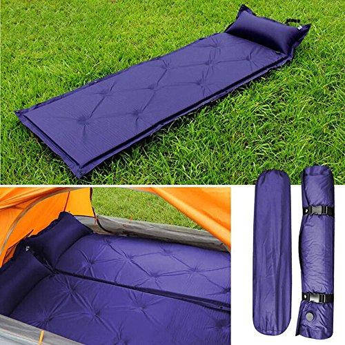Garten Mile® Camping-Luftmatratze, selbstaufblasend, groß, kompakt, wasserdicht, tragbar inklsuive Tragetasche, 188cm x 57cm, Blau