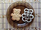 Teddy Bear Cookie Cutter Food Grade Plastic Cookie Cutter Shapes for Kids bakeware Animal Shaped Cookie Cutters