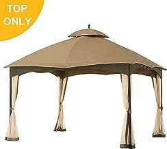MasterCanopy Gazebo 12' x 10' Cabin-Style Soft Top Gazebo Roof for Model L-GZ933PS (Brown)