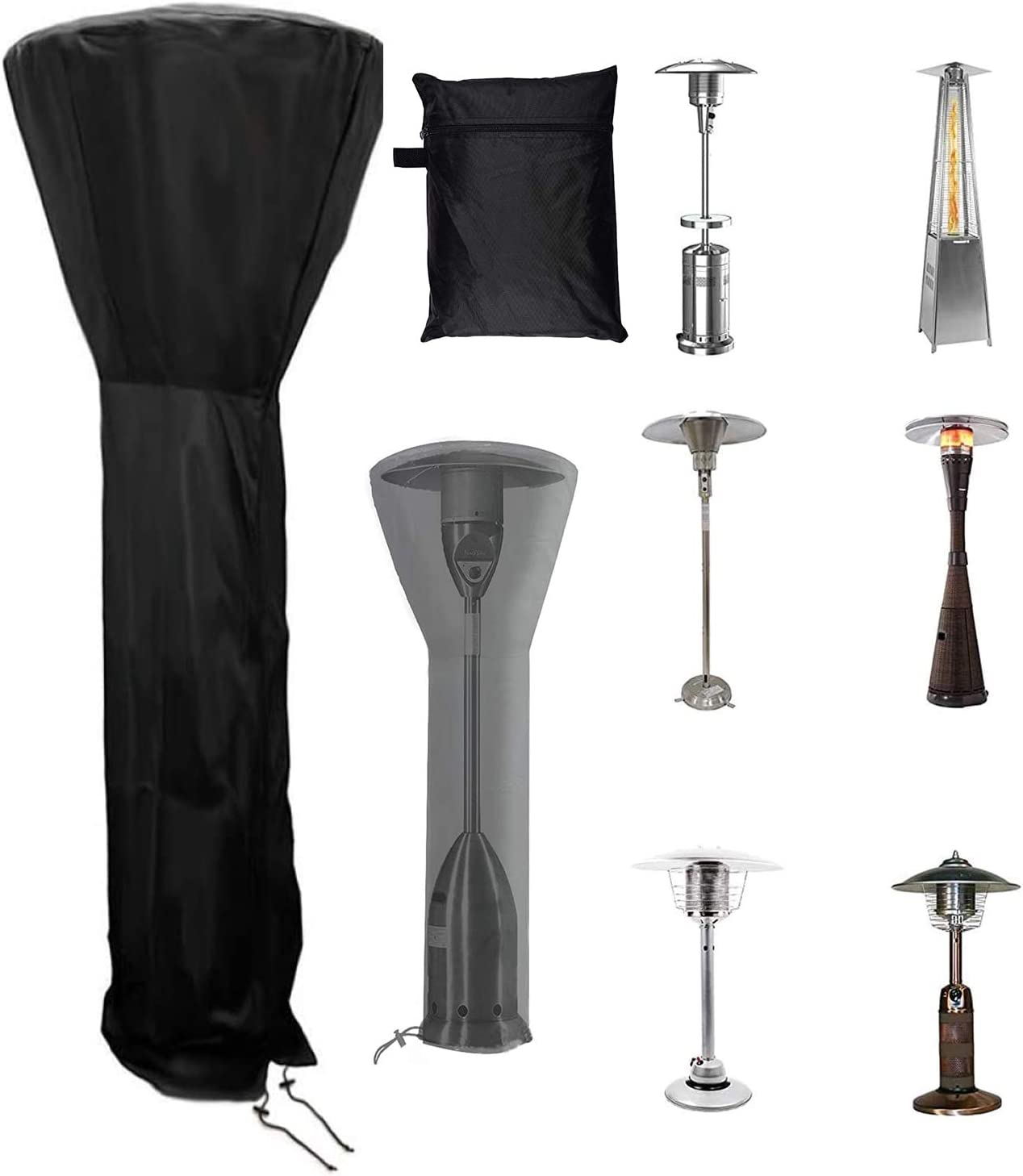 DEARLIVES Patio Heater Cover Award-winning store Waterproof Seasonal Wrap Introduction with Zipper