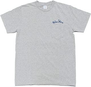 [ベルバシーン] ポケット付き クルーネック Tシャツ ロゴ刺繍入り アメリカ製
